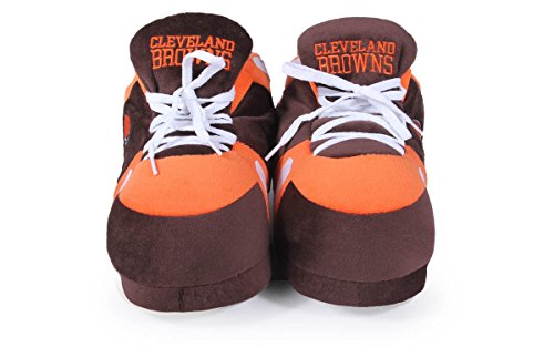Happy Sneaker Feet Nfl Browns Comfy And Womens Cleveland Licensed Mens Officially Slippers Z75qUw