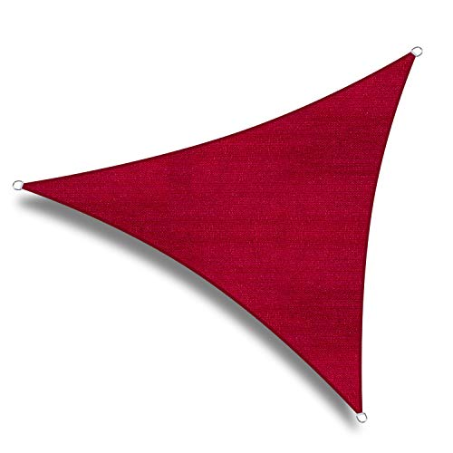 W.una 20'x20'x20' Oversized Triangle Garden Patio Sun Sail Shade 20 ft , Color Red