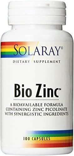 Solaray Bio Zinc Supplement, 15mg, 100 Count by Solaray