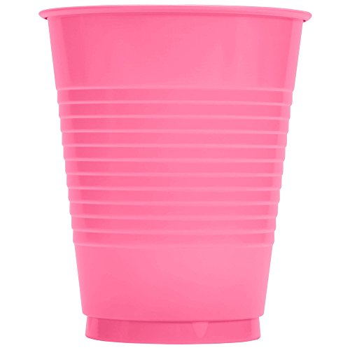 Creative Converting 28304281 16 oz. Candy Pink Plastic Cup - 240/Case