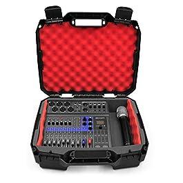 Casematix Studio Mixer Case Compatible with Zoom LiveTrak L-8 L8 Podcast Recorder, Mics, Microphone Cable and…