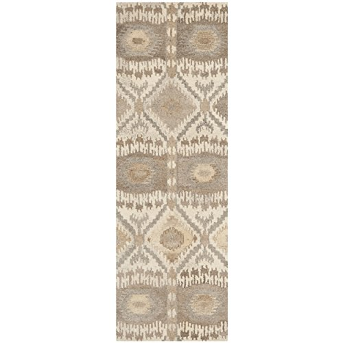 lection WYD720A Handmade Natural and Multi Wool Runner, 2 feet 3 inches by 7 feet (2'3