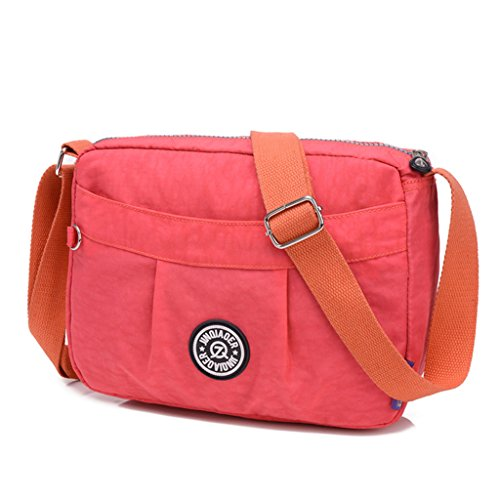 Bag Small Women's Pink Water Messenger Cross Fabric Bag Lightweight Watermelon body Resistant Nylon Shoulder TianHengYi 7dqZt7