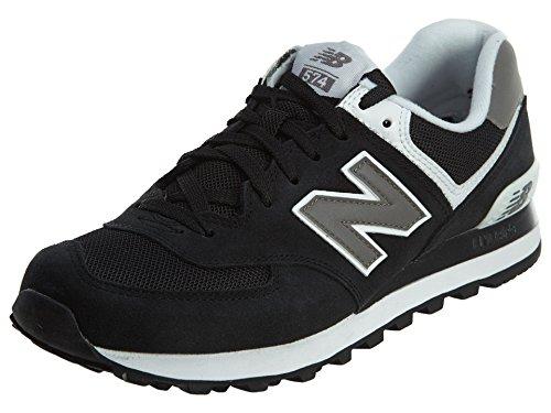 New Balance Men's M574SKW, Black/White, 9 D US