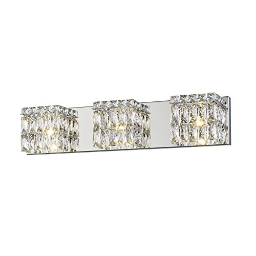Magari 3-Light LED Vanity - Chrome - Crystal Glass -