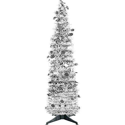 - YuQi 5FT Collapsible Tinsel Christmas Trees, Plump Sequin Bling Pop Up Artificial Xmas Tree for Christmas Decoration Home Decoration(Sliver)