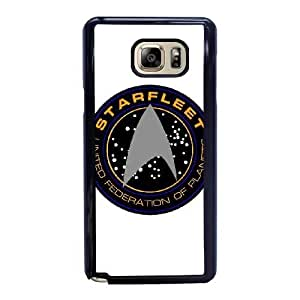 Wunatin Hard Case ,Samsung Galaxy Note 5 Cell Phone Case Black Star Trek Logo [with Free Tempered Glass Screen Protector] BA-9892001