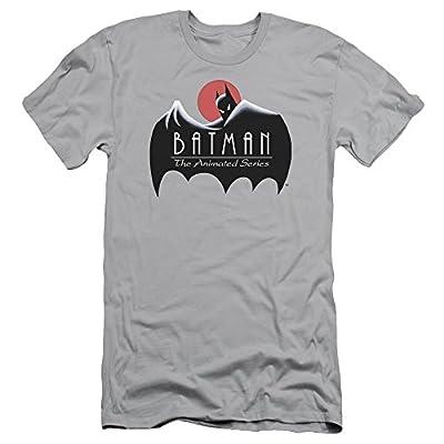 Batman The Animated Series Clean Logo Mens Slim Fit Shirt Silver Md
