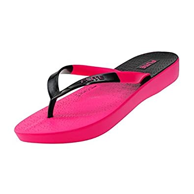 Relaxo Women's Black-Pink Flip- Flops & House Slippers(5) Flip-Flops & House Slippers at amazon