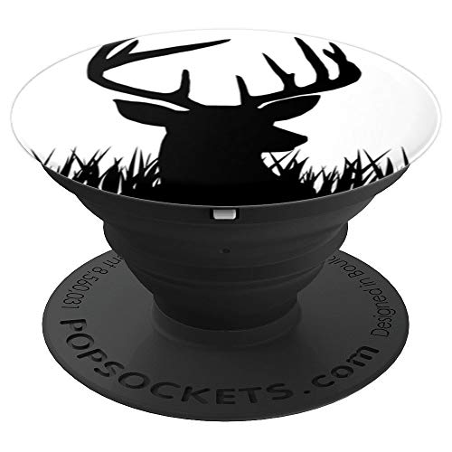 Black Deer Buck Hunting design deer head - PopSockets Grip and Stand for Phones and -