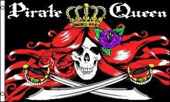 (Pirate Flag - 5'x3' - Queen Flag )