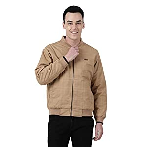 Monte Carlo Khaki Solid Cotton Polo Collar Jacket
