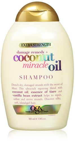 Coconut Shampoo Oil (OGX Extra Strength Damage Remedy, Coconut Miracle Oil Shampoo, 13 oz.)
