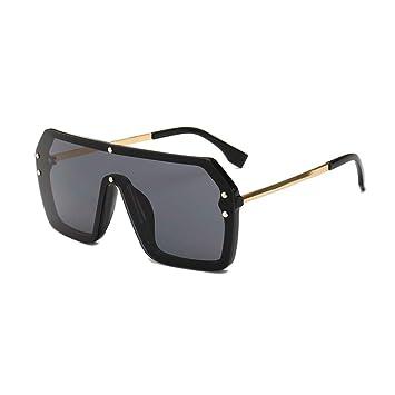 MINGMOU Gafas De Sol Negras De Una Pieza Cuadradas para ...