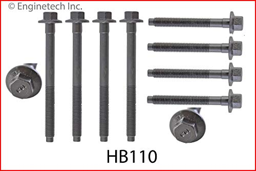 ENGINETECH HB110 Head Bolt Set (2 Sets REQ) Compatible with 1997-2008 Ford / 232 3.8L V6 / 238 3.9L V6 / 256 4.2L V6