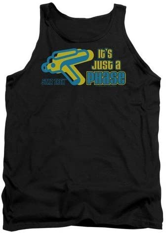 Adult Tank Top Trevco Quogs-Just A Phase Black44; Small