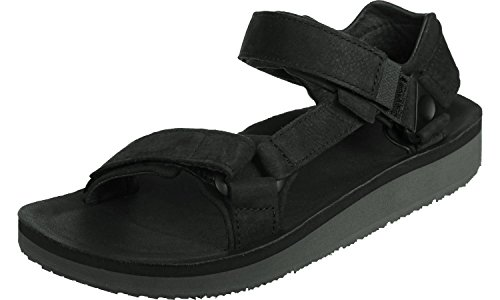 Teva M Original Universal Premier-Leather, Sandalias de Punta Descubierta Para Hombre Negro (Black Blk)