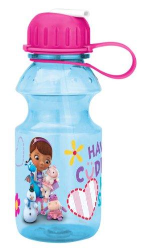 Zak! Designs Tritan Water Bottle with Flip-up Spout with Doc McStuffins Graphics, Break-resistant and BPA-free plastic, 14 oz.]()