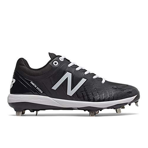 New Balance Men's 4040v5 Metal Baseball Shoe, Black/White, 11.5 D US