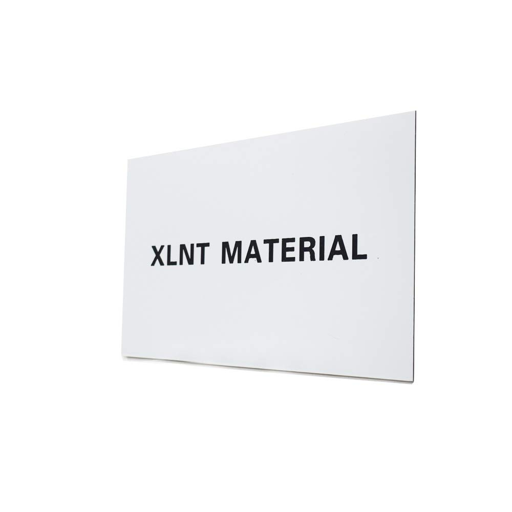 """White//Black for Interior Signs XLNT Engraving Double Color Sheet Badges. 12 x 24/"""" x .060/"""", 6 Pieces"""