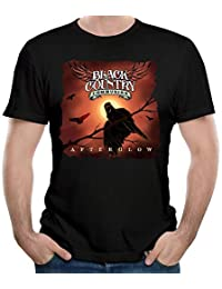 Man Black Country Communion Cotton Short Sleeve Top Tee Young Cool Tee