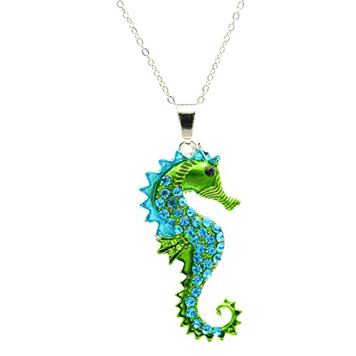 Seahorse jewelry kritters in the mailbox seahorse jewelry vinjewelry green seahorse pendant necklace for a hippocampus lover delicate gift aloadofball Image collections