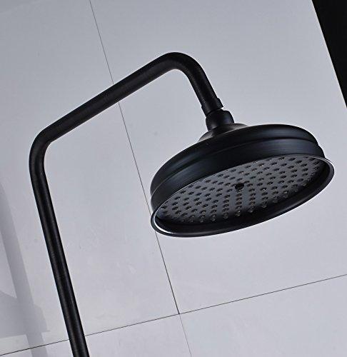 Rozin Luxury Oil Rubbed Bronze Bath Shower Faucet Set 8'' Rain Shower Head + Hand Shower Spray by Rozin (Image #3)