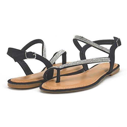 67c7d5536f3 DREAM PAIRS Women s Atlas Ankle Strap Gladiator Flat Sandals - Import It All