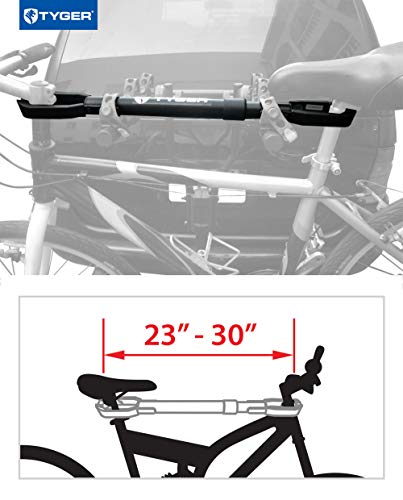 Tyger Auto TG-RK1B108B Deluxe Bike Top Frame Cross Bar Bicycle Telescopic Adaptor - Black by Tyger Auto (Image #1)
