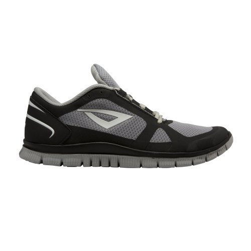 3N2 7920-0171-120 Velo Runner Shoe, Black And Volt Yellow - 12