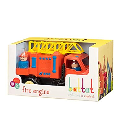 Battat Fire Engine, Orange: Toys & Games