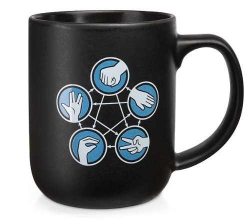1 X Rock Paper Scissors Lizard Spock Coffee Cup Mug