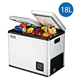 Lxn Portable Car and Home use Compressor Double Door Fridge,Mini Freezer for Driving, Travel, Fishing, Outdoor and Home use - 12V/24V(DC) and 110V-220V(AC)