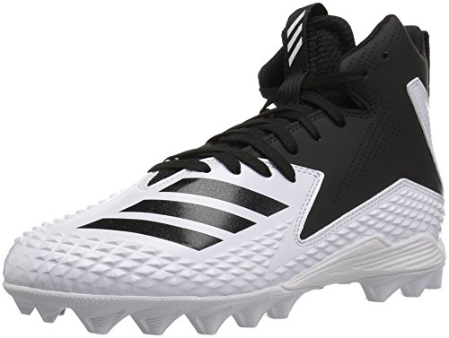 adidas Originals Unisex-Kids Freak Mid MD J Football Shoe, FTWR White, Core Black, Core Black, 4.5 M US Big Kid