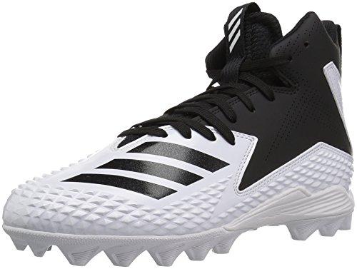 adidas Unisex Freak Mid MD J Football Shoe, FTWR White, core Black, 3 M US Little Kid
