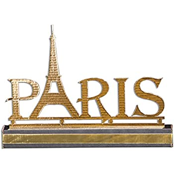 Tcdesignerproducts silver resin eiffel tower centerpiece 15 inches high paris - Deco table paris ...
