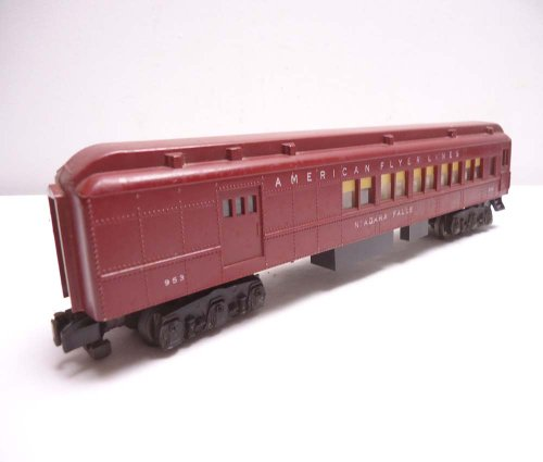 American Flyer 953 Heavyweight Niagra Falls Baggage and Club Car S Gauge