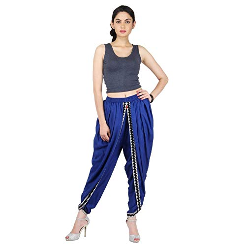 Blue Color Rayon Dhoti Pant, Dhoti Salwar, Patiala Dhoti Pant for Women, Girls