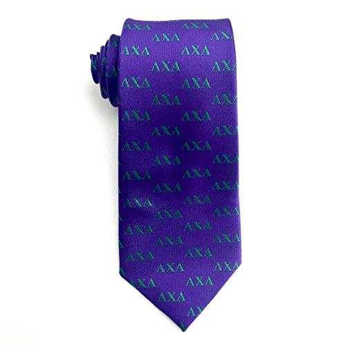 Lambda Chi Alpha Fraternity Necktie Tie Greek Formal Occasion Standard Length Width Hanky Pocket Square (Letter Necktie)