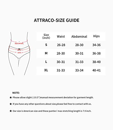 ATTRACO Women Cotton Hipster Panty Cheeky Briefs Underwear 4 Packs x-Large