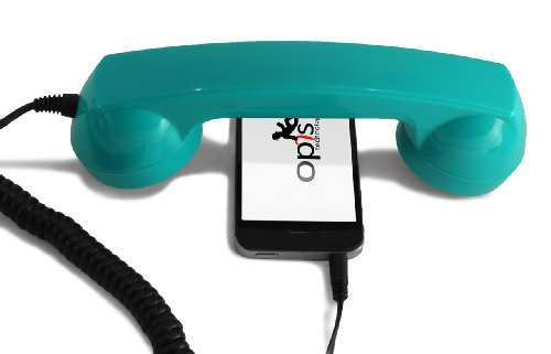 Special Edition - OPIS 60s Micro: Retro handset/Vintage handset/Retro Receiver/Mobile handset for iPhone, Galaxy, Huawei and All Modern Smartphones (Screaming Turquoise)