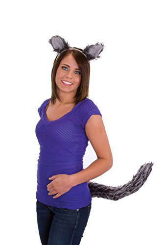 24630 Wolf Ears & Tail Costume Set Wolf Costume Ears & Tail Set
