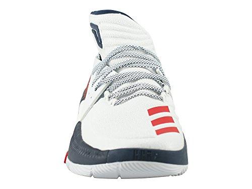 Adidas Heren Dame 3, Wit / Scarle / Navy, 12 M Ons