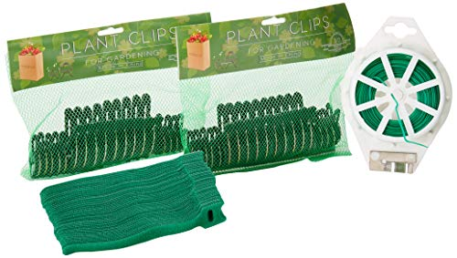 Plant Clips 40 Pcs For Gardening Gentle Plant Flower Clamps Supporting Climbing Vines Stalks Stems Works With Bamboo Stake Tomato Cage Trellis Bonus 50m Plant Twines