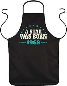 Unbekannt Trendy regalo de cumpleaños Delantal con aniversario FUN Diseño: A Star Was Born 1968