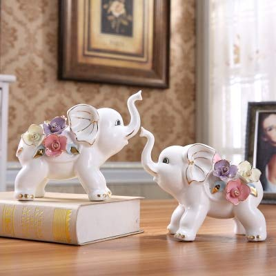 Amazon.com: ZAMTAC OUSSIRRO Elephants Decorations Creativity ...