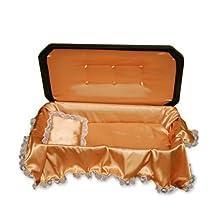Deluxe Pet Casket - Choose Color - Burial Casket by Pet Memory Shop (Medium, Black/Gold)