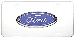 Pilot LP-021B Ford Chrome 3D Plate