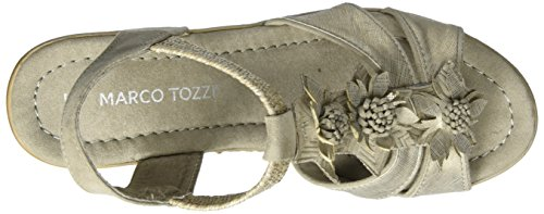 Bout Ouvert Taupe Femme Marron Tozzi Sandales Marco Comb 344 28302 qxgtRS1