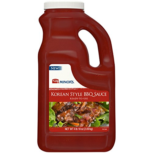 Minor's Korean Style BBQ Sauce, Authentic Asian Pepper Flavor, Bibimbap Sauce, 4 lb 10 oz Bottle